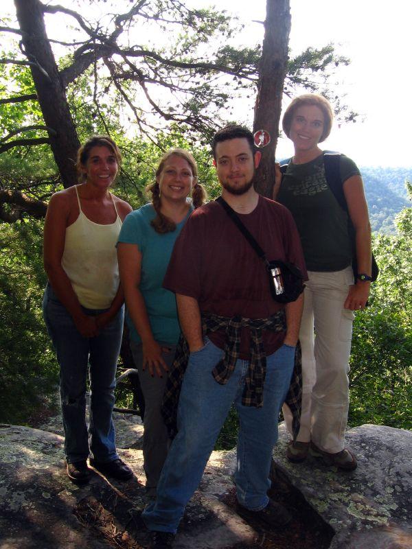The Gang, Screw Cliff Overlook, Centennial Wilderness WMA, White Co, TN