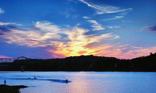 sunset ohio landscape