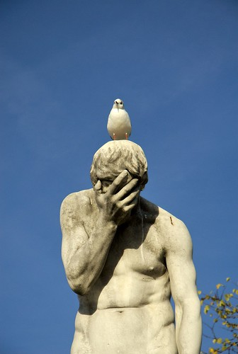 paris france bird poop statue sadness | by Anthony Citrano