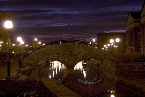 bridge sunrise canal maryland frederick