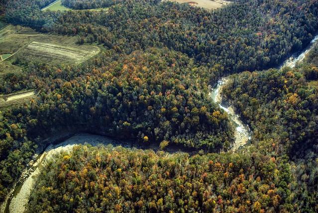 Meanders, Blackburn Fork Creek, Jackson Co, TN