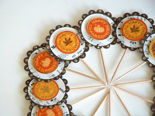 Happy Thanksgiving Cupcake Toppers | by GlitterandFrills
