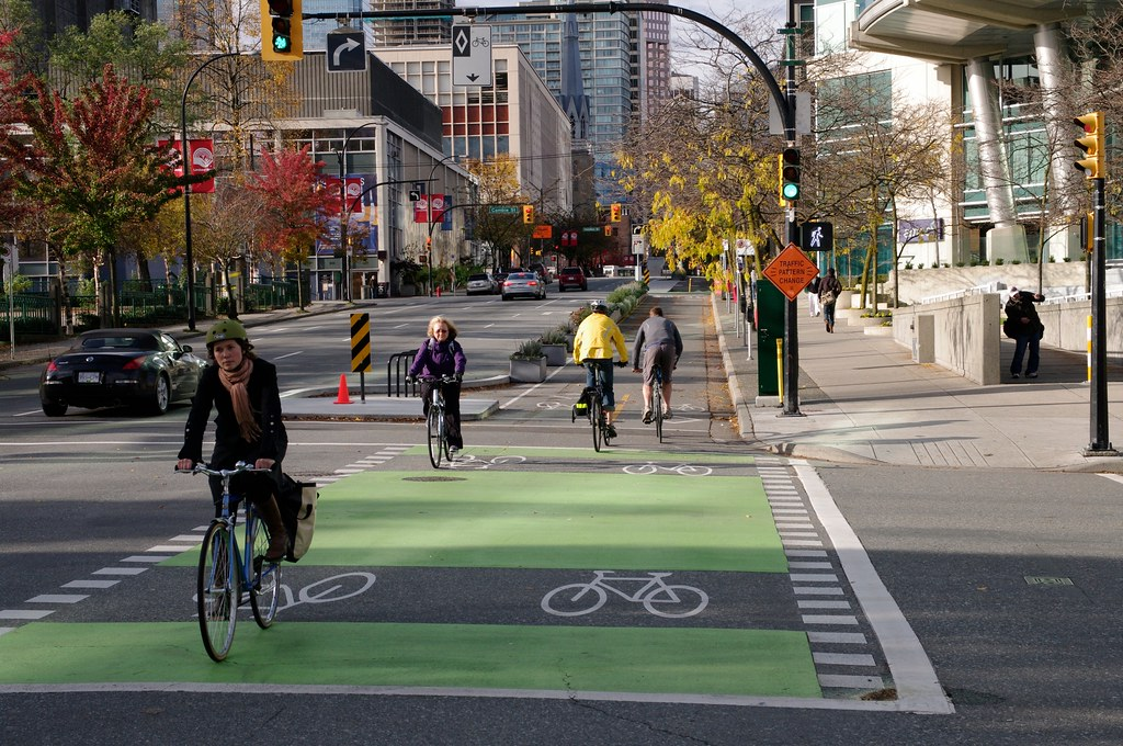 Dunsmuir Separated Bike Lanes 22 | Protected / Separated bic… | Flickr