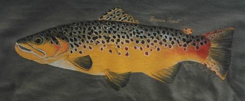 Backwater Angler Brown Trout T-Shirt | by Backwater Angler