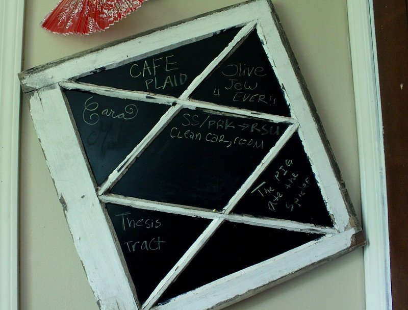 my chalkboard (old window)