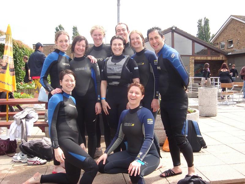 wake-boarding group