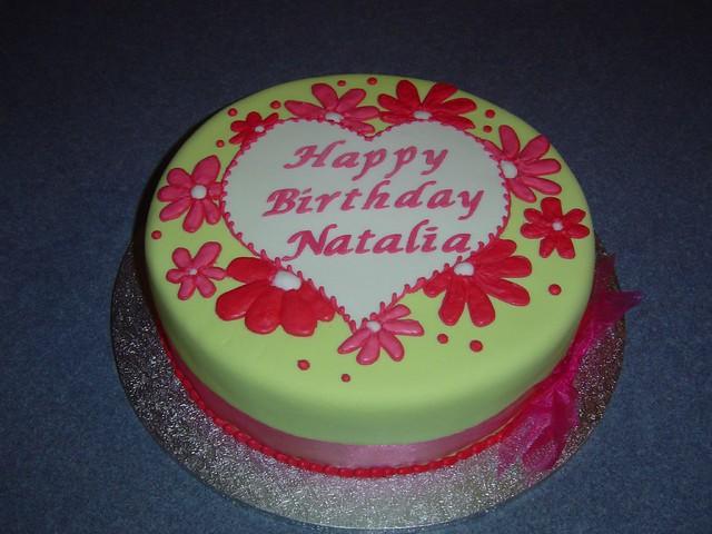 Magnificent Pink And Green Birthday Cake Sandra Socake Flickr Funny Birthday Cards Online Alyptdamsfinfo