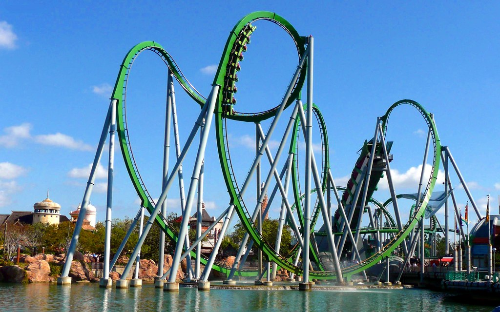 The Hulk Coaster | A Basic Picture, but I like it. Feel free… | Flickr