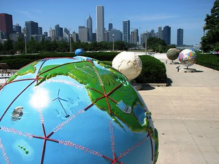 Cool Globes Downtown Chicago   by John LeGear