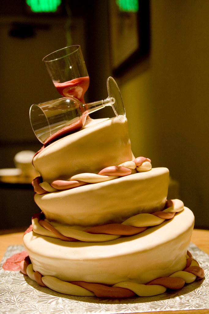Brilliant Topsy Turvy Spilled Wine Birthday Cake White Cake W Coffe Flickr Funny Birthday Cards Online Ioscodamsfinfo