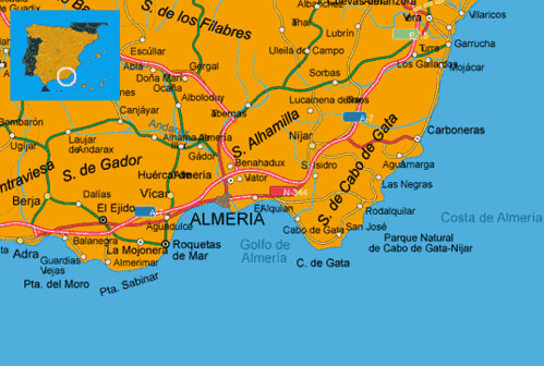 Map Of Spain Almeria.Maps Spain Costa Almeria Costa De Almeria Spanish South Ma Flickr