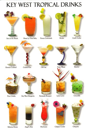 Key West Florida Tropical Drinks postcard - available | by paflip25