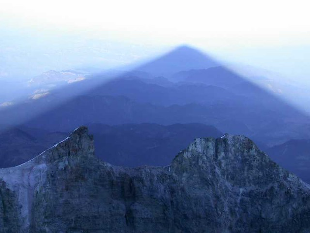 Shadow of highest mountain in Mexico