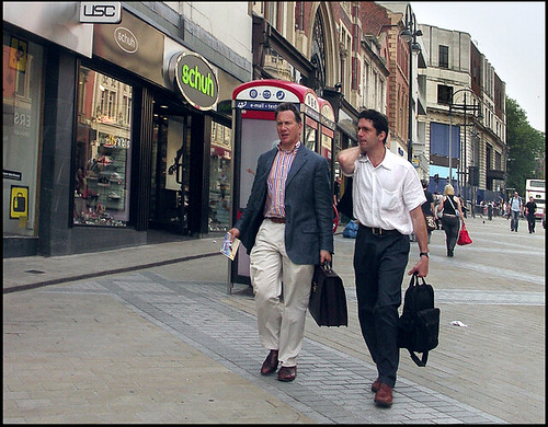 Michael Portillo, MP on Briggate, Leeds