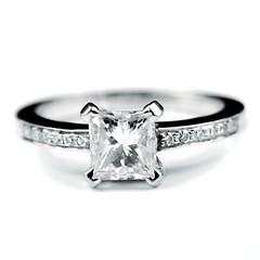 'Madison' Princess cut diamond engagement ring | by rmrayner
