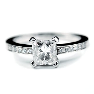 'Madison' Princess cut diamond engagement ring | by rmrayner
