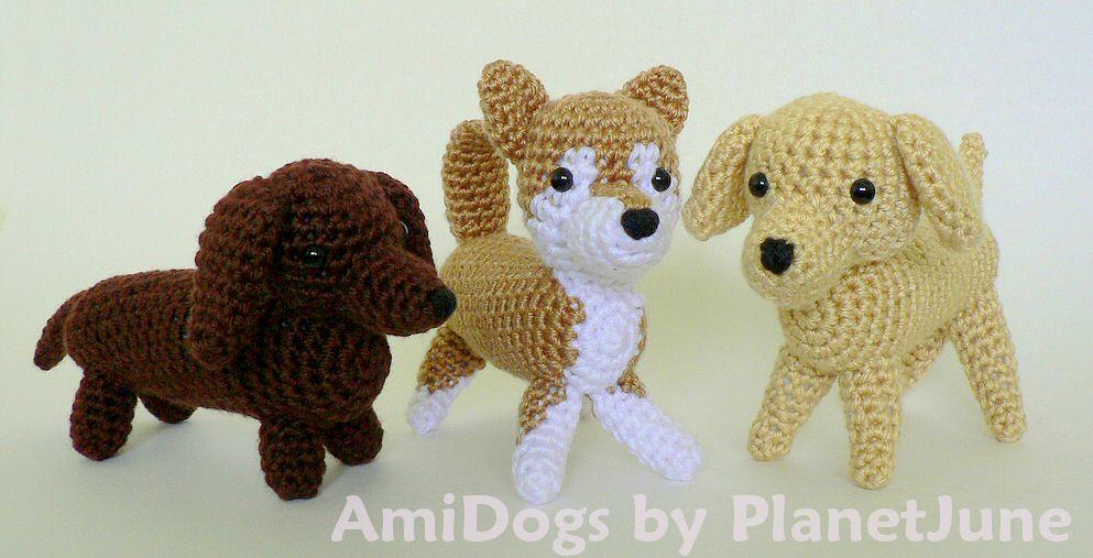 Crochet dachshund dog amigurumi pattern | Amigurumi Space | 507x993