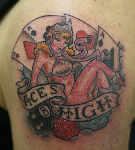 aces high   More art and tattoos here; www.facebook.com/Flam…   Flickr