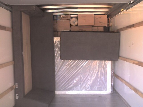 Sofa Segments packed in the truck