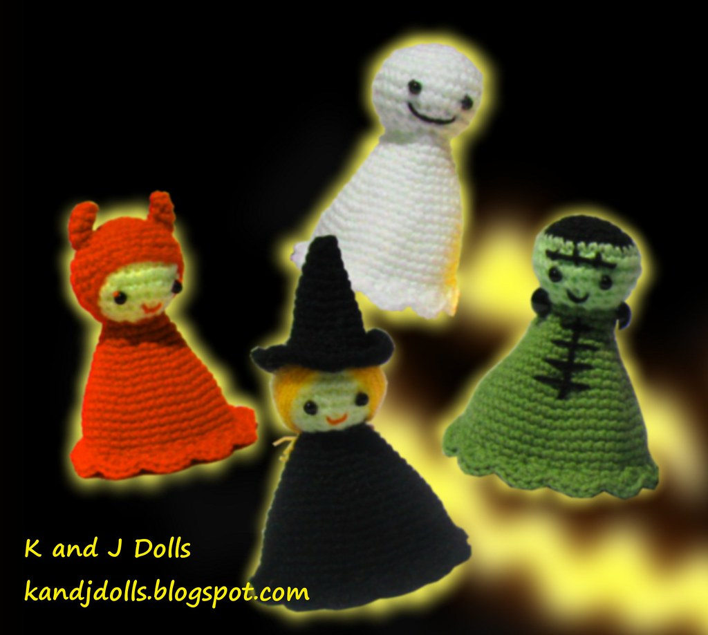 Halloween Amigurumi Little Ghost Plushie Free Crochet Pattern | 919x1024