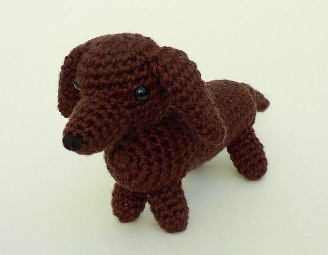 Crochet Cute Amigurumi Dachshund Dog Part 1 of 2 DIY Video ... | 499x640