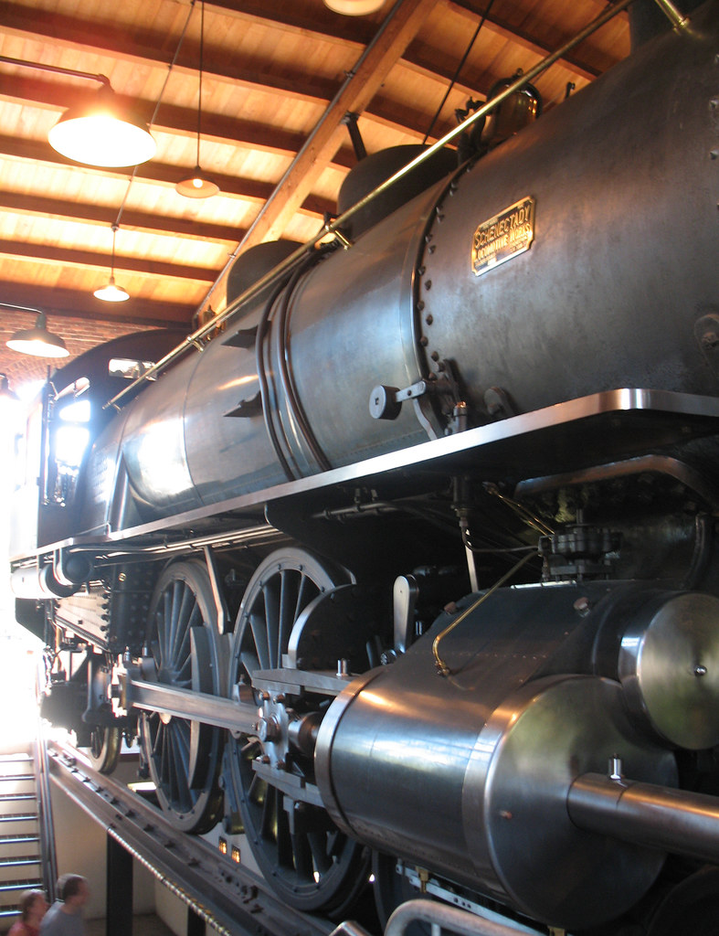 Steam Engine in Roundhouse, Greenfield Village - a photo on