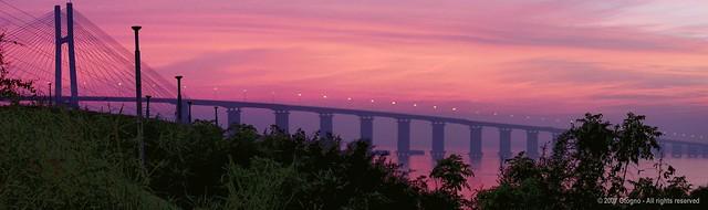 Amanecer - Dawn 'n Puente Rosario-Victoria - Rosario - Argentina