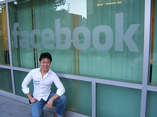 Fred in front of Facebook HQ | by standoutjobs