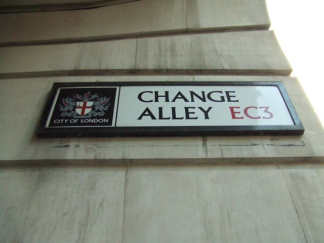 Change Allley sign