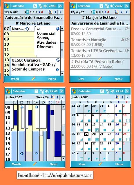 Calendario Outlook.Pocket Outlook Calendario Pim Padrao Do Windows Mobile