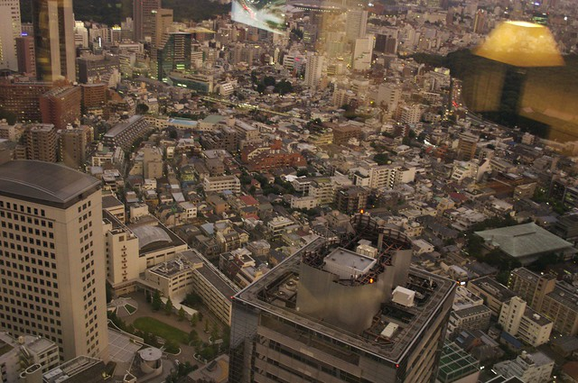 Crowded city from above - Tokyo, Japan, 2007.