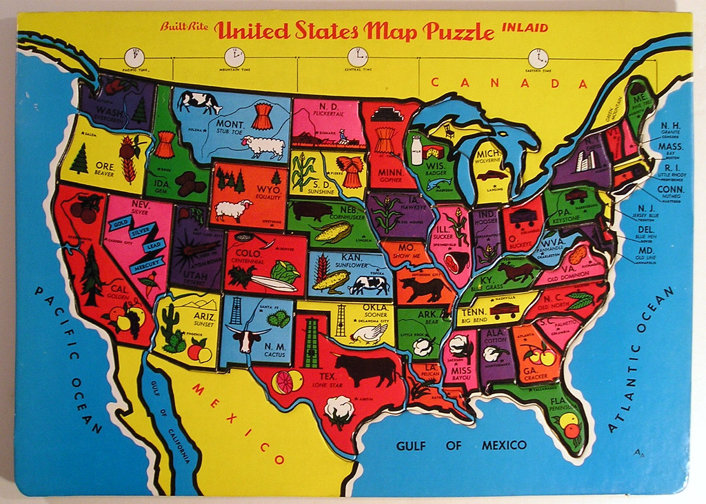 Built-Rite United States Map Puzzle | Tom | Flickr