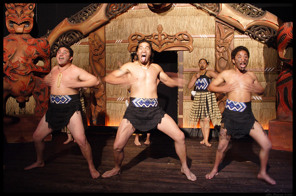 The traditional Maori war dance, Haka