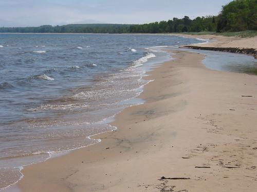 beach river shoreline whitefishbay lakesuperior sediments