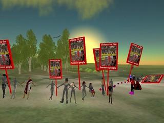 Free Burma Human Chain