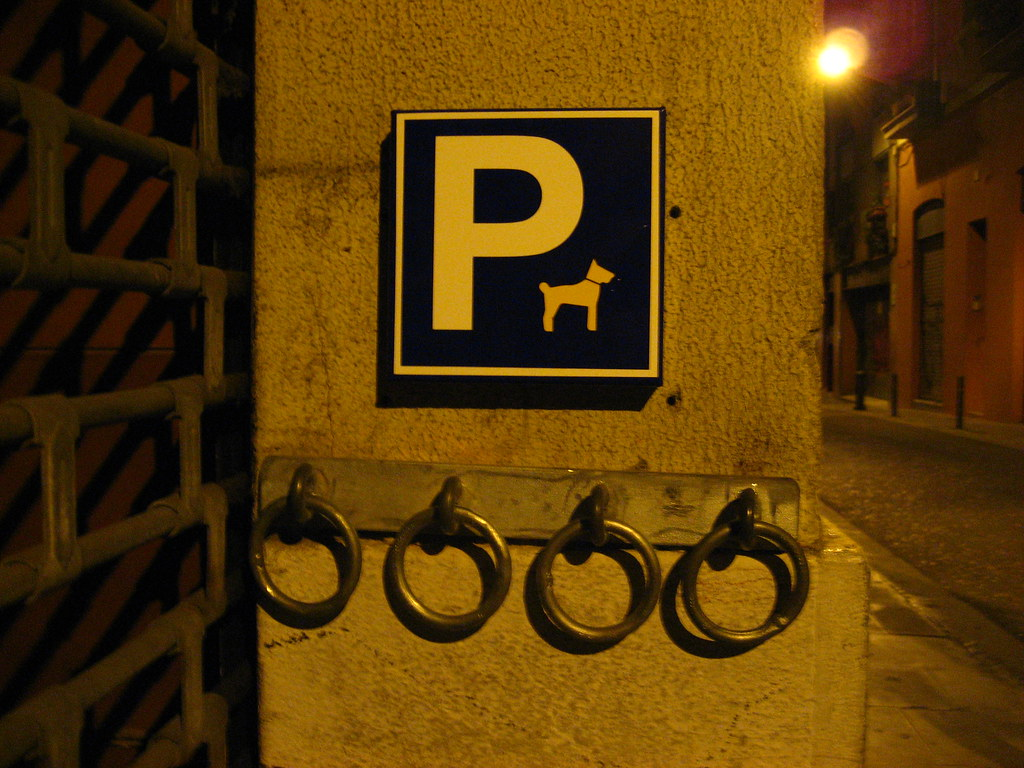 barcelona dog parking...