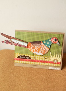 'He's the Man' - paper pieced Pheasant card