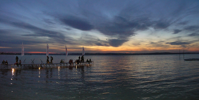 Coke Club sunset - panorama from the beach of Siófok