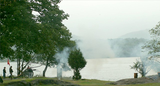 Firing at West Point with Cannon