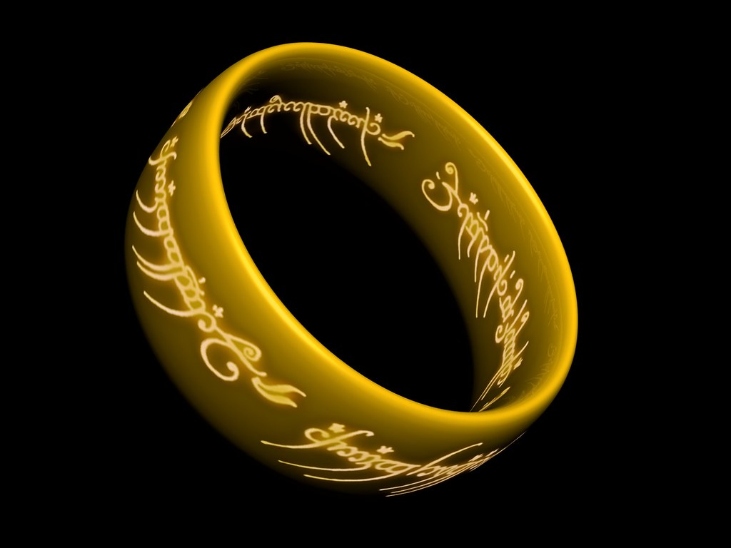 The One Ring Wallpaper 2 A 3d Model My Brother And I Creat