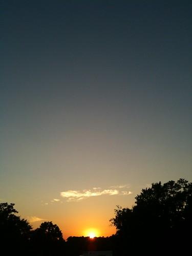 trees sunset sky usa cloud texas huntsville gradient heb