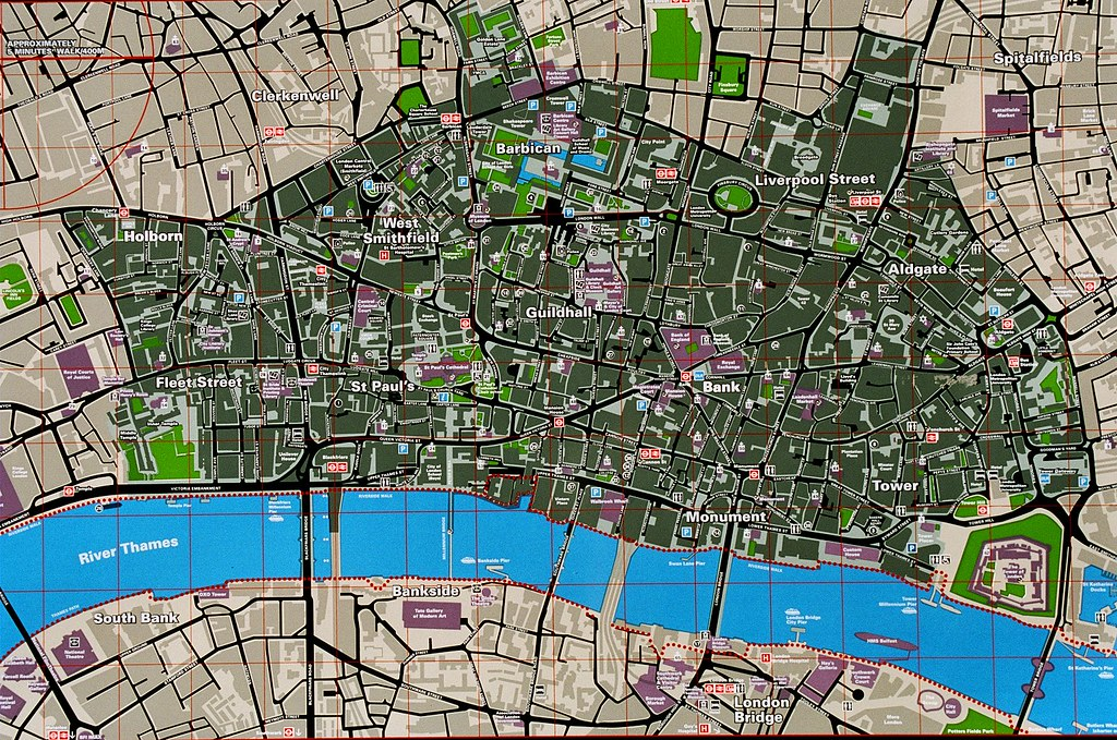 City Of London Tourist Map.Tourist Map City Of London Close Up Of The Tourist Map A Flickr