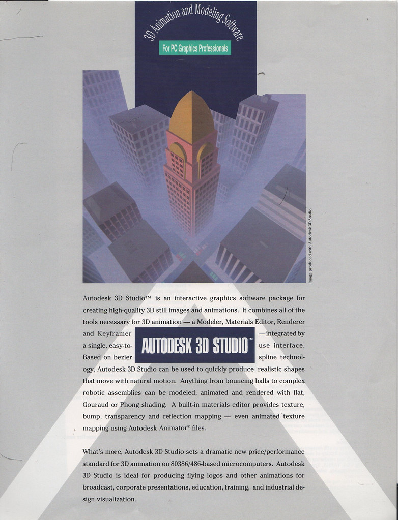 Autodesk 3D Studio 1 Ad front circa 1990 | Shaan Hurley | Flickr