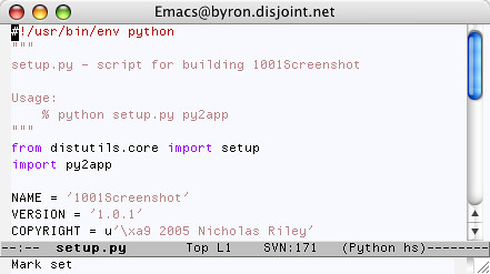 Emacs in Tiger | by njr