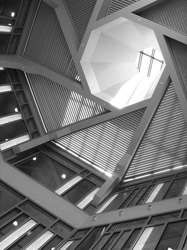 light shadow up architecture looking view ct ceiling atrium uconn storrs universityofconnecticut schoolofbusiness