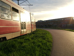 tram speeding past me
