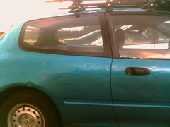 Dented car