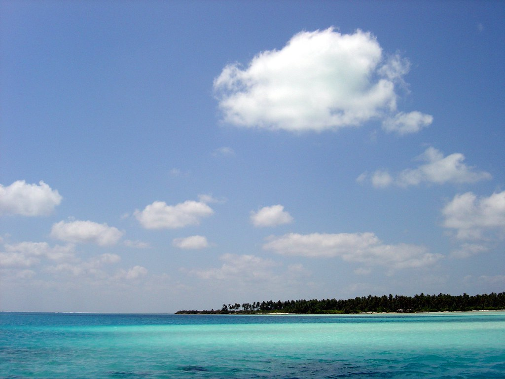 View of the clear blue water