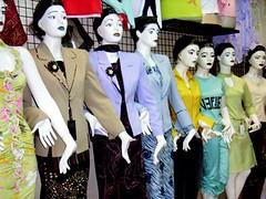 Mannequins in day wear