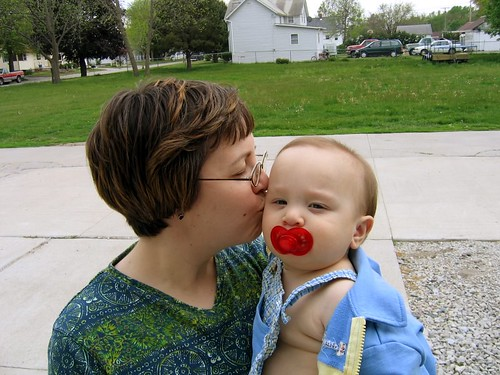 Kiss from Mom on Mother's Day